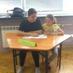 Ани Кръстева от I клас и нейната майка